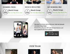 #12 for Build A Mockup Landing Page for a Fitness App af salmaanzaib91