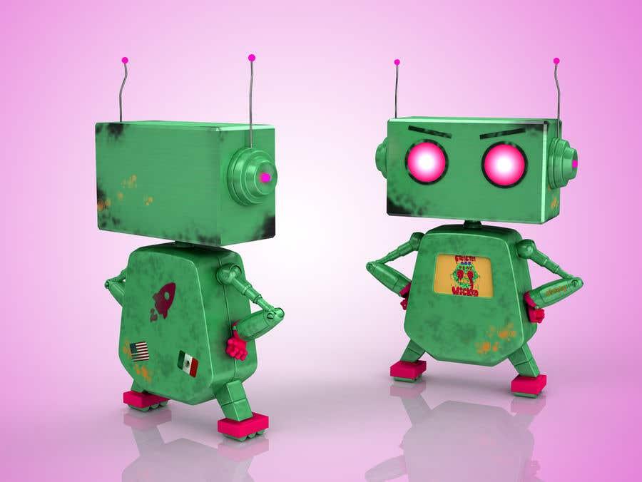Kilpailutyö #                                        72                                      kilpailussa                                         3D Robot Design / Logo