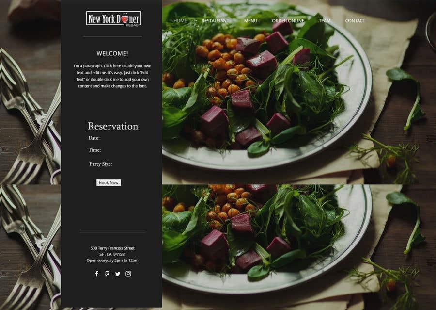 Kilpailutyö #34 kilpailussa Restaurant website