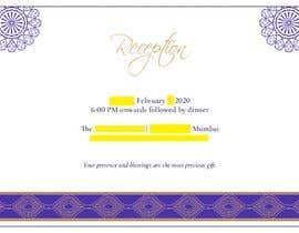 #5 untuk Make an e-invite from physical wedding card design oleh jayeshhumbal