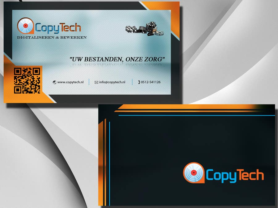Konkurrenceindlæg #                                        47                                      for                                         Business Card Design for Copytech.nl