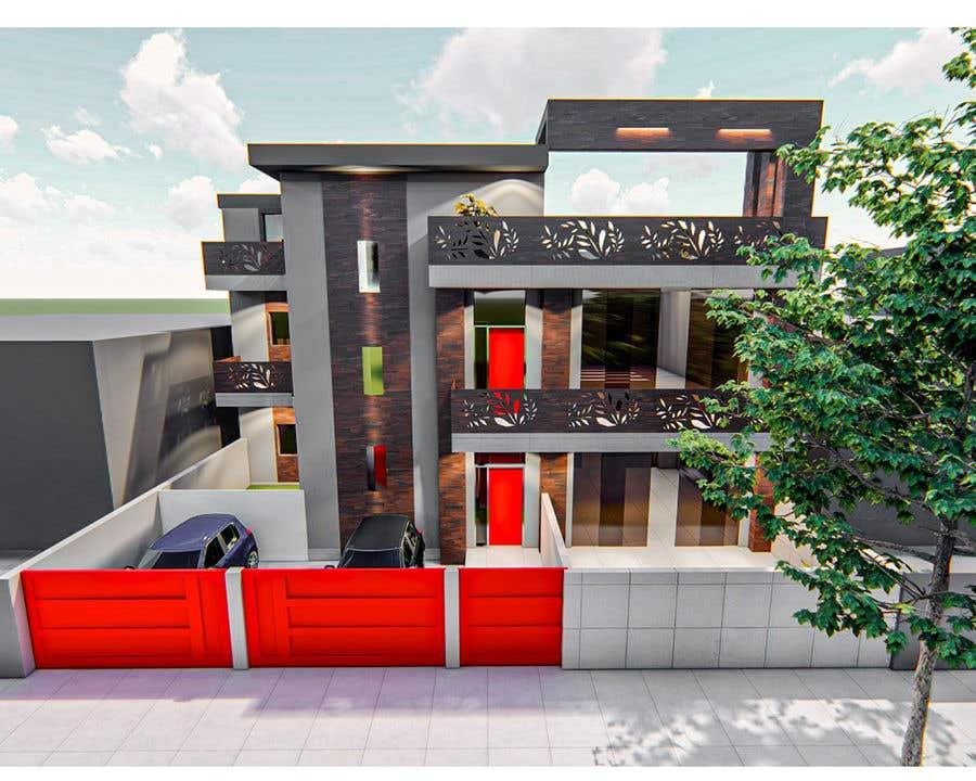 Bài tham dự cuộc thi #10 cho House facade design