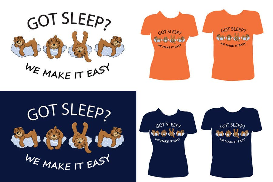 Proposition n°                                        97                                      du concours                                         T-shirt Design for Tired Teddies Guerrilla Marketing Campaign