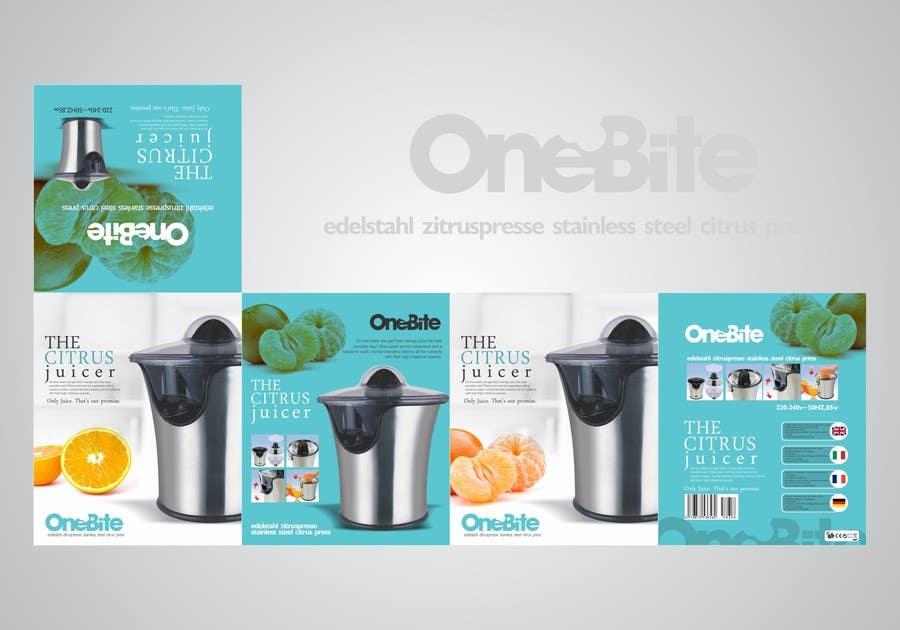 Bài tham dự cuộc thi #                                        25                                      cho                                         Create Minimalistic Print and Packaging Designs for a Citrus Juicer