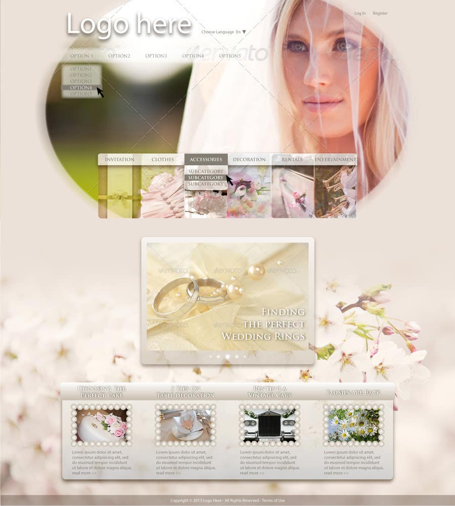 #4 for Website Design for Wedding Portal by Dzains