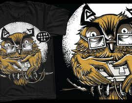 #83 for T-shirt Owl Design for Geek/Gamer Shop af crayonscrayola