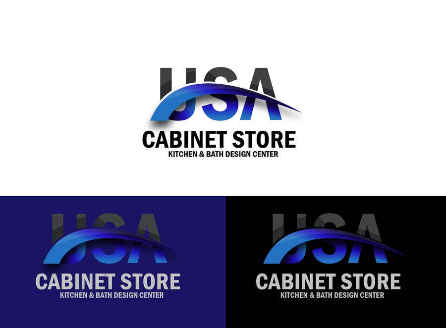 Entry 28 By Aquagraphic For Usa Cabinet Store Logo Freelancer