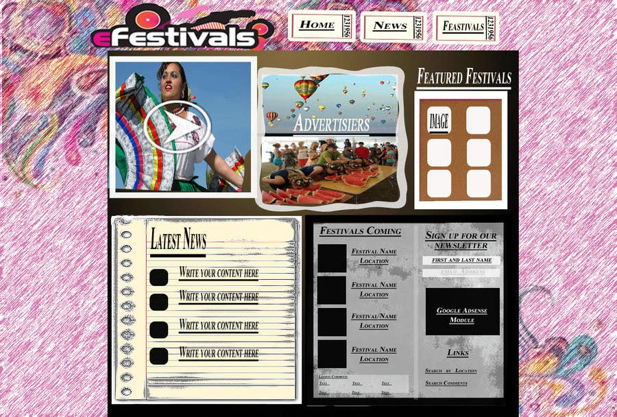 Contest Entry #9 for Website Design for eFestivals