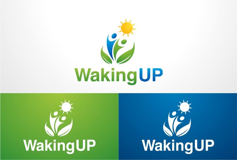 Proposition n°                                        33                                      du concours                                         LOGO representing 'waking up', 'awareness', 'knowledge' for humanitarian adventure