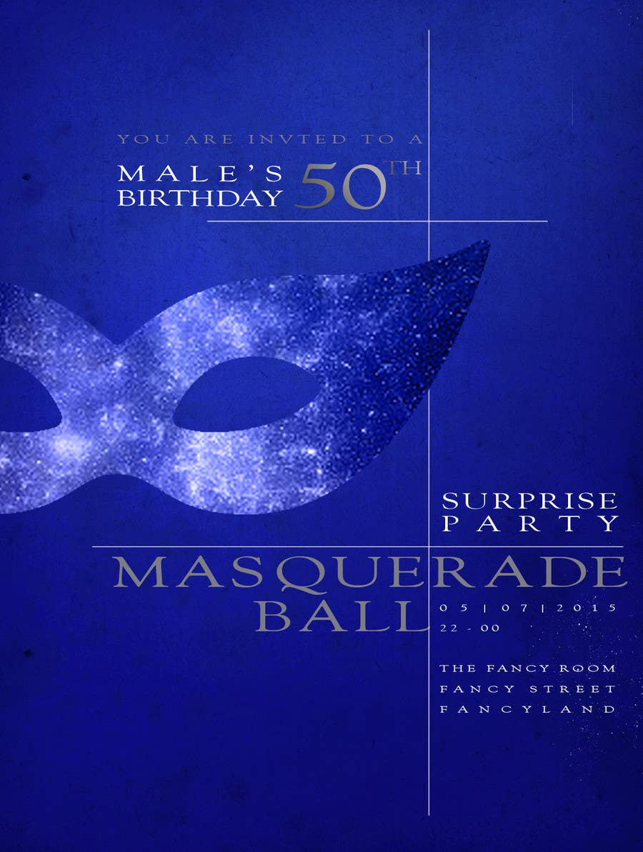 Contest Entry 12 For 50th Birthday Masquerade Ball Invitation Male