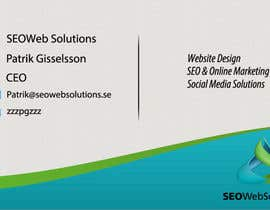 #37 para Business Card Design for SEOWeb Solutions por thewolfmenrock