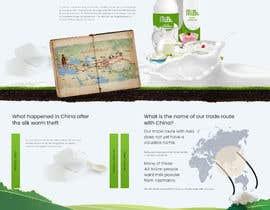 #32 untuk Design a mock up for a website about The New Milk Road oleh amrapalikamble