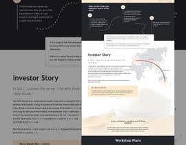 #27 untuk Design a mock up for a website about The New Milk Road oleh elloisa92