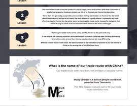 #19 untuk Design a mock up for a website about The New Milk Road oleh anusri1988