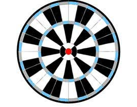 #13 for Create vector image of a custom dart board. by abdelali2013