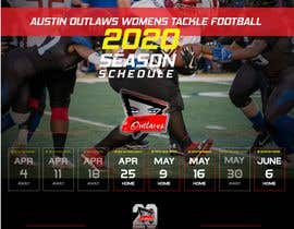 #25 for Womens Tackle Football Season Schedule by DESIGNERpro11