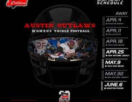 #30 for Womens Tackle Football Season Schedule by DESIGNERpro11