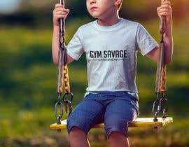 #41 para Gym Savage T- Shirt Mock up de anjummahmud1989