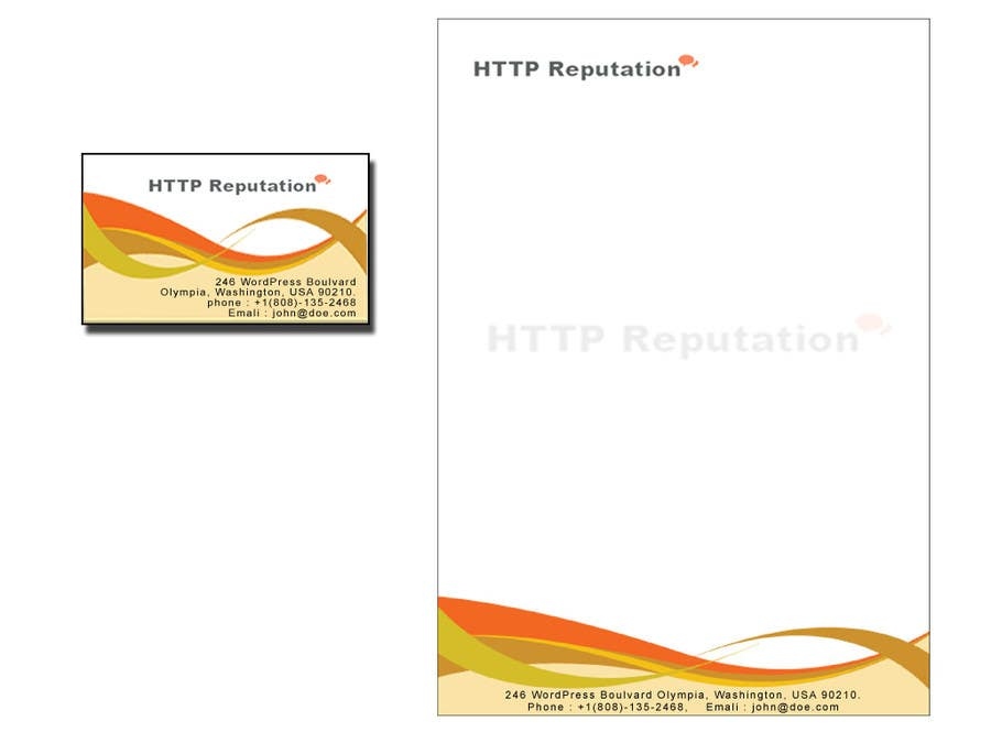 #27 for Business Card and letter head Design for httpreputation by anuprai56