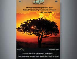 #3 dla Poster For African Themed Fundraising Event przez eljo1999