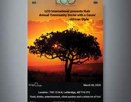 #5 dla Poster For African Themed Fundraising Event przez eljo1999