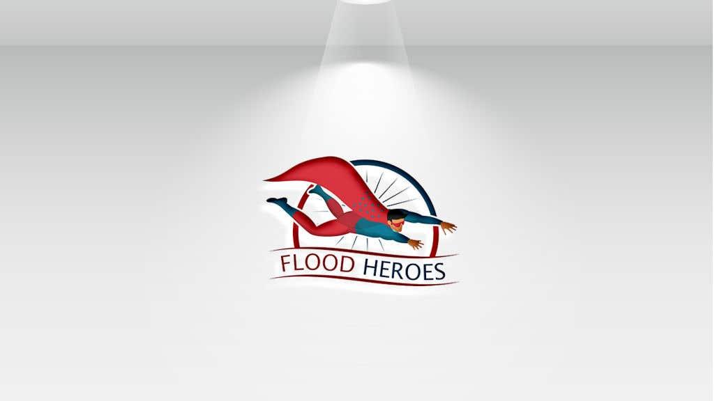 Kilpailutyö #                                        275                                      kilpailussa                                         Flood Heroes Logo