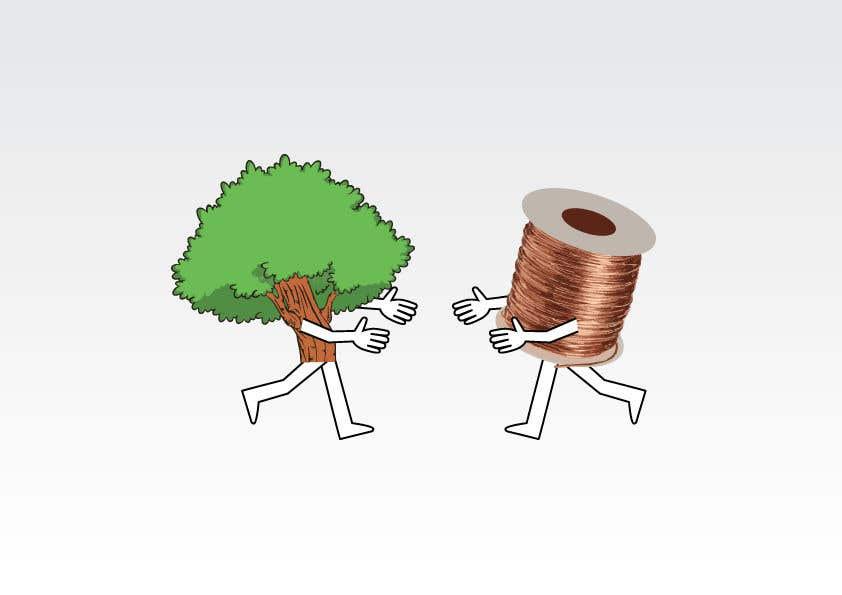 Inscrição nº                                         94                                      do Concurso para                                         Make a picture of a tree hugging copper