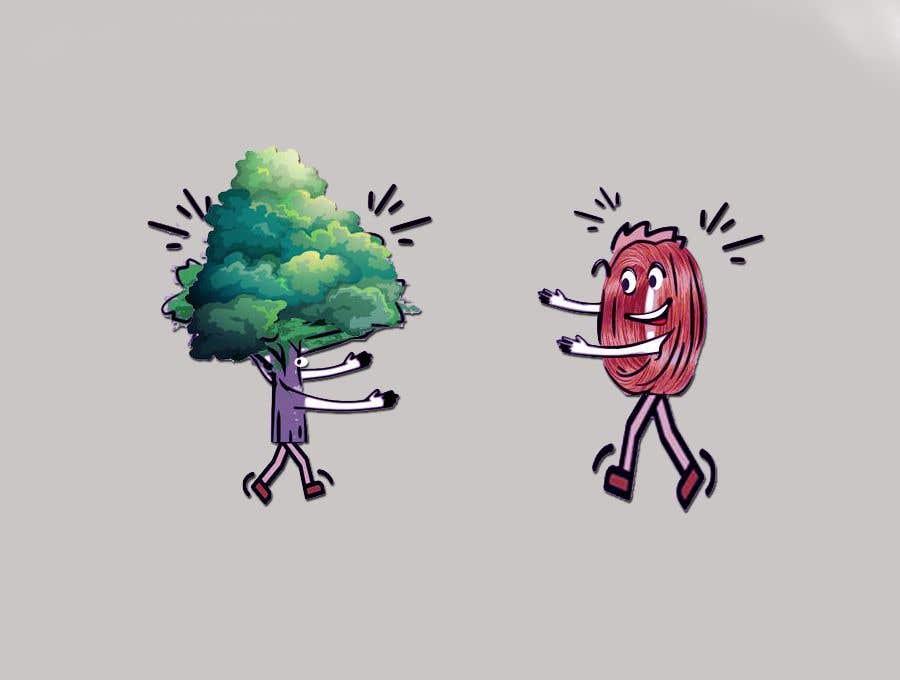Inscrição nº                                         100                                      do Concurso para                                         Make a picture of a tree hugging copper