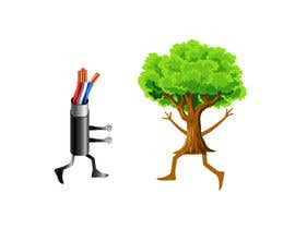 #178 for Make a picture of a tree hugging copper by sabbirmollik129
