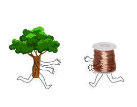 #63 para Make a picture of a tree hugging copper por markzyakzy