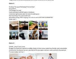 #39 untuk Write Facebook Ad Copy for a Bed we are selling oleh chaviefuchs