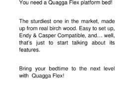 #57 untuk Write Facebook Ad Copy for a Bed we are selling oleh mvamva
