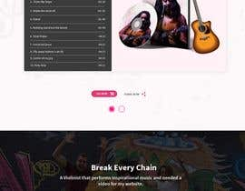 nº 78 pour Build a website for a singer par shamrat42