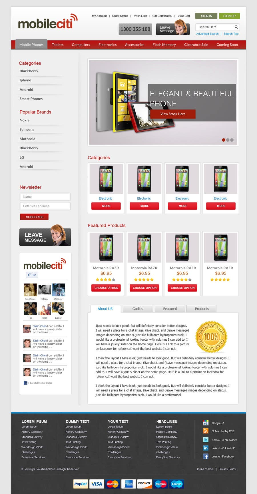 #12 for Website Design for Magento by iamheretodesign