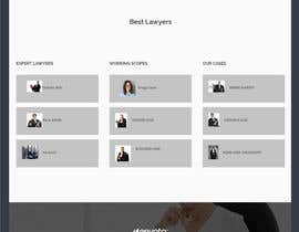 """#39 untuk Professional website for a law firm. Relevant, clean, dark green and grey themes. Technology, """"shelter in the storm"""" themes. Need at least 10 pages. oleh sharifkaiser"""