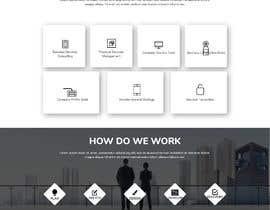 Nro 14 kilpailuun UI design for a website homepage of security/financial industry business. (desktop and mobile version required). Provide work in SketchApp format käyttäjältä Pavel01911
