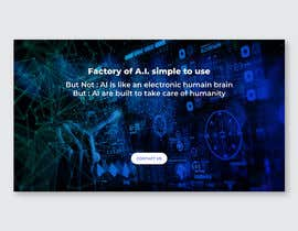 #25 cho Web banner full screen about Artificial Intelligence bởi darbarg