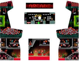 #7 cho Custom full-sized arcade cabinet side/front art and backlit marquee bởi Raju1357
