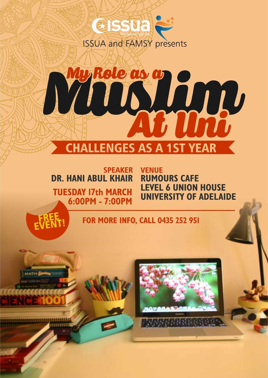 Entry #15 by dipta165 for Islamic Uni Lecture Event - Flyer