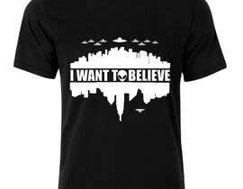 "#42 untuk T-shirt Design for ""I Want To Believe"" UFO shirt. oleh amitpadal"