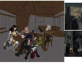 #28 dla Draw an image of D&D Characters in a tavern przez stefaniamar