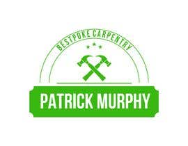 #4 dla I need a logo designed for a carpenter. The company name is Patrick Murphy Bespoke Carpentry. I would like black font for the writing and sleek and corporate looking. Please include that green colour in the design somehow. przez carlosgirano