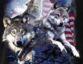 #117 dla Professional Wolf Shirt Design (Photoshop) przez LeeLooRussia