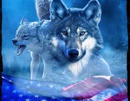 #80 dla Professional Wolf Shirt Design (Photoshop) przez axldezcort