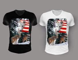 #131 dla Professional Wolf Shirt Design (Photoshop) przez oksikuts