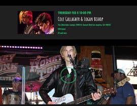 #26 para Build a home page design for a musician de kksaha345