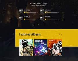 #40 para Build a home page design for a musician de mithu2219146