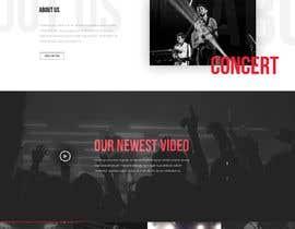 #52 para Build a home page design for a musician de SK813