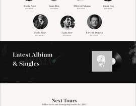 #53 para Build a home page design for a musician de SK813