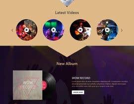 #54 para Build a home page design for a musician de asiarahman20
